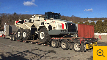 Terex Off Highway Heavy Duty Dump Truck hauled by Truck Transport